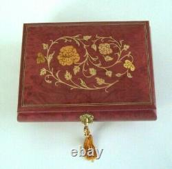 Inlay Musical Jewelry Box Handcrafted Italy Burl Wood Marquetry Made in Italy