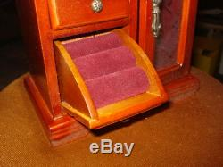 Jewellery, TOY WOOD CUPBOARD HOUSE CHECKROOM ROOM music box TOY