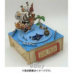 Kigumi Wooden Art One Piece Straw Hat Pirates Music Box 3D Puzzle DIY Kit
