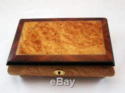 Made in Italy Sorrento Bird Eye Matte Finish Music box (Sankyo 18 notes)