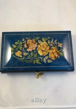 Made in Italy Sorrento High Gloss Royal Blue Jewelry Music Box (Sankyo 18 Note)