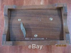 Mint Vtg Reuge Sainte Croix Switzerland Wood Music Box Edelweiss Lara's Theme