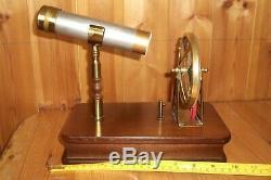 Music Box Motion Animated Kaleidoscope VTG Spinning Wheel Wood Base/Case Stand