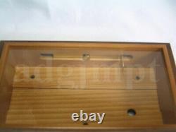 NEW Empty Wood Box for DIY Music Box 50 Note ORPHEUS Sankyo JAPAN Walnut+Spruce