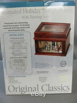 NEW Mr. Christmas Victorian Era Ballroom Moving & Lights Disc Player Music Box