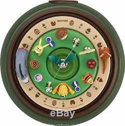 New! Disney Winnie the Pooh Clock Diorama Music Box Japan F/S
