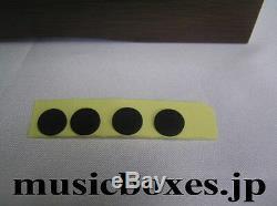 New Empty Wood Box for DIY 72 Note Music Box ORPHEUS Sankyo JAPAN Walnut+Spruce
