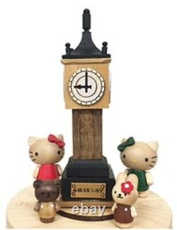 New wooden music box Kitty and steam clock Free shipping from Japan