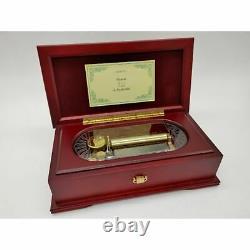 ORPHEUS SANKYO 50 note wood Music Box Canon Johann Pachelbel scratched