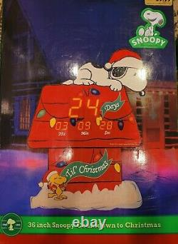 PEANUTS 36 SNOOPY COUNTDOWN TO CHRISTMAS in BOX +24 Charlie Brown Musical Tree
