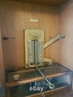 Polyphon Upright Music Box with Discs