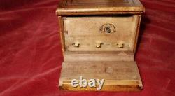 RARE MUSIC BOX by HENRY CAPT GENEVE PLAYS SIX POPULAR AIRS KEY WOUND MOVT
