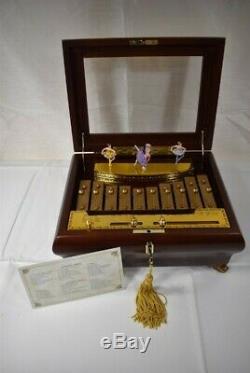 RARE Mr Christmas Wood Spinning Ballerinas Xylophone (50 Tunes) Music Box