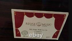 REUGE MUSIC One of a Kind Poker Theme Wood Inlay of 4 Aces Music Box