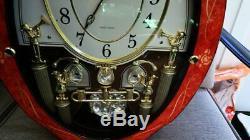 RHYTHM Small World MUSICAL LIGHT SHOW WALL CLOCK CMJ338UR06 Retired Works in Box