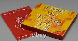 RON RONNIE WOOD ROLLING STONES I Want You To Hear This LTD. SIGNED LITHO BOX