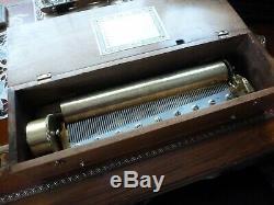 Rare Key Wind Cylinder Music Box