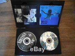 Rare Nirvana Bleach & Nevermind CD wood wooden Box set Kurt Cobain Foo Fighters