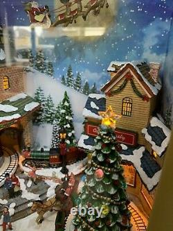 Raz Christmas Activity 23Animated Musical Lighted Retro TV with Village Scene