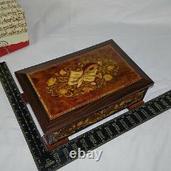 Reuge Switzerland Wood Inlay 12 Music Box 6-discs & Mfr's Box Axa7255820000031
