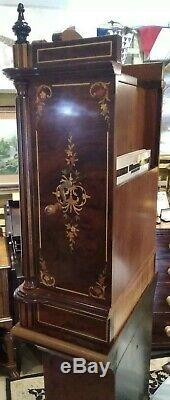 Reuge upright 11 inch disc music box, thorens 41 note movement, see video
