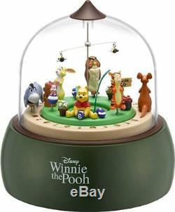 Rhythm clock Disney Winnie the Pooh Table clock Music Box 4RH787MC05 with Tracking