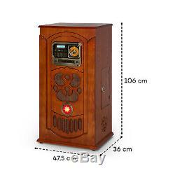 Rockola Jukebox Turntable Player CD Bluetooth USB Tuner Fm Wood