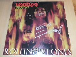 Rolling stones KEITH RICHARDS box VOODOO BREW signed live concert RON WOOD rare
