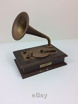 Sanko Beethoven Fur Elise Gramophone Musical Box Decor Sankyo 20 Note