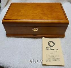 Sankyo Orpheus 50 Note Walnut Wood Music Box F. F. Chopin 3 Parts