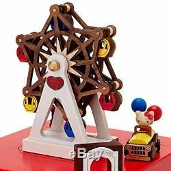 Sanrio Hello Kitty Wooden Music Box Ferris Wheel Japan