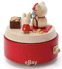 Sanrio Hello kitty wooden music box Lucky Goods for Gift Japan