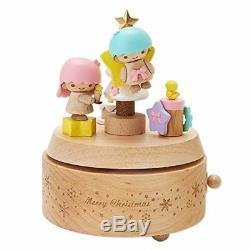 Sanrio Little Twin Stars Wooden Music Box (Christmas)