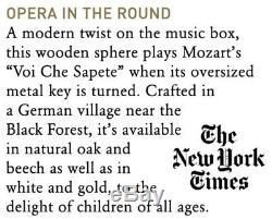Siebensachen German Music Box Mozart Ball Oak Smoked Wood Mozartkugel Berlin