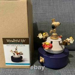 Snoopy Peanuts wooden music box 2015 Rare wooderful life