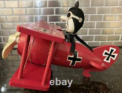 Snoopy Red Baron Music Box Peanuts Bi-plane Snoopy's nemesis Schmid Bros