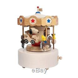 Snoopy & Woodstock Carousel Music Box Merry Go Round Peanuts Collection
