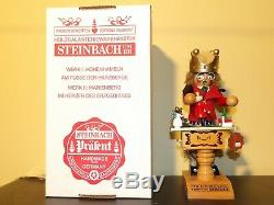 Steinbach German Wood Smoker S 920 Double King, music box, Original Box With Tag