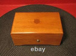 Stunning Vintage Thorens Music Box 4 Song 52 Note Swiss Movement Wood Case Works