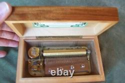 THORENS music box-4 songs-Swiss made- 6.75 x 4 x Approx 3 per. Cond