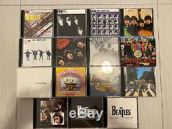 The Beatles 1988 89 Parlophone 16 CD Box Set Collection Wood Roll Up Cabinet