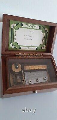 Thorens Of Switzerland Vintage 1940s musical box, in beautiful Wooden box