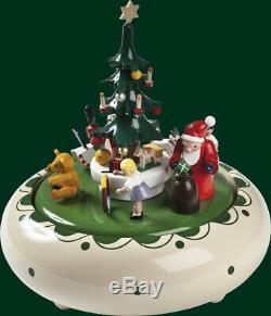Top Music Box Weihnachtsbescherung 22er Musical Mechanism Erzgebirge New 08308