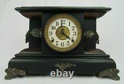 ULTRA RARE! Seth Thomas mantel clock BUILT IN MUSIC BOX antique MUSICAL 1 in 10k