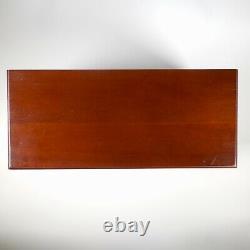 VTG MCM Wood Jewelry Music Box Large 7 Drawer Dresser Love Story Song