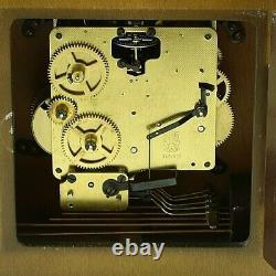 Vintage Antique RHS Germany Wooden Desk Mantle Shelf Clock Musical Box working