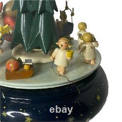 Vintage German Erzgebirge Wendt & Kuhn Christmas Procession Music box DAMAGED