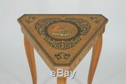 Vintage ITALIAN inlay wood music box, music table jewel box