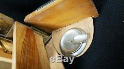 Vintage Italian Cigarette Dispenser Olive Wood Amalfi Coast Volcano Music Box