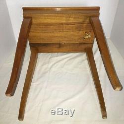 Vintage Italian Jewelry Music Box Inlaid wood Table Trinket